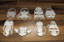 Star Wars Cookie Cutters Vader, Trooper, C3PO  R2D2, BB8, Yoda, Chewy, Falcon