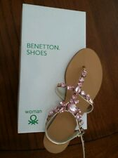United Colors of Benetton Women Shoes/Sandals T Strap Size 6.5 US 37 EUR