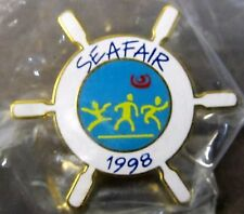 1998 SEATTLE SEAFAIR SKIPPER tack pin Hydroplane Boat Racing MINT in package