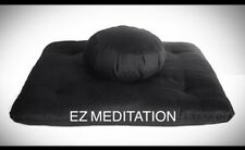 Deluxe 2pc Set Buckwheat Hulls Zafu Zabuton Yoga Meditation Cushion Free Ship