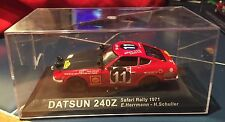 Mint condition Datsun 240Z 1:43 Scale diecast model Case Damaged Rally Car #13
