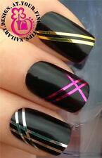 SILVER GOLD HOT PINK NAIL ART STRIPING TAPE ROLLS LINE STICKER DECORATION #861