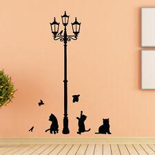 Ancient Lamp Cats Birds Wall Sticker Mural Home Decor Room Kids Decals Wallpaper