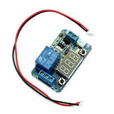 LED 12V Digital Display Programmable Timer Relay Module + IR Remote Controller