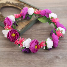 Boho Floral Rose Flower Women Girl's Hairband Headband Garland Festival Wedding
