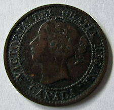 Canada 1858 Large Cent Queen Victoria Key Date Pleasing Mid Grade