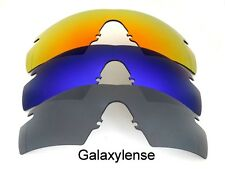 Galaxy Replacement Lenses For Oakley M Frame Strike Black&Blue&Red 3 Pairs