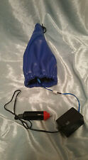 APC GEAR SHIFT SHIFTER LIGHTED NEON BOOT COVER BLUE PVC LEATHER UNIVERSAL JDM