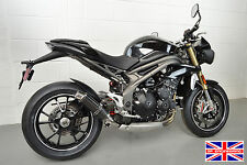 Speed Triple 2016+ SP Engineering Carbon Fibre Stubby Big Bore 3-1 Exhaust