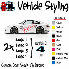 Car Door Stack Kit Sticker Decal Various Logos x2