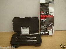 """TREND 3PCE 1/2"""" X 50MM KITCHEN FITTERS WORKTOP ROUTER CUTTER SET WITH CASE KFP/1"""