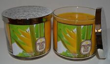 BATH BODY WORKS PINEAPPLE PALM GRASS SCENTED CANDLE 3 WICK 14.5 OZ LARGE HAWAII