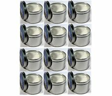 (12) Candles 7oz Soy Wax 430+ Hr Emergency Survival Wick Metal Tins Disaster