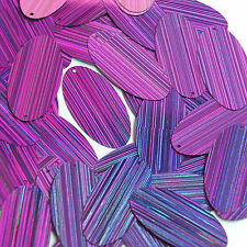Purple Sequins City Lights Reflective Oval 1.5 inch Large Couture Paillettes