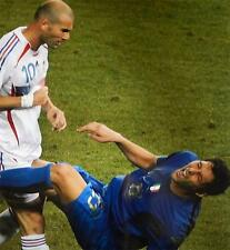 Zinedine Zidane headbutt on Marco Materazzi 2006 World Cup Soccer 16 X 20 photo