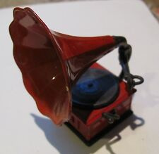 vintage Hong Kong pencil sharpener, victrola record player, rare