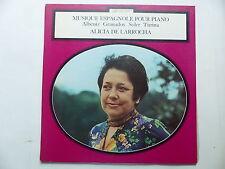 Musique espagnole  piano ALBENIZ GRANADOS SOLER TURINA Alicia de Larrocha 7423