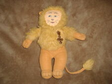 "1989 Wizard of Oz Cowardly Lion Largo Toys Ltd Soft Doll Plush 12"" tall"