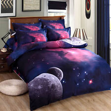 Double Size  Galaxy Duvet Cover Bedding Set Nebula Star Cosmos Moon LIMITED