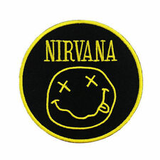 NIRVANA Smiley Goth Grunge Rock Embroidered Iron On Sew On Shirt Badge Patch