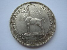 Southern Rhodesia 1936 silver 2 Shillings (Florin) GVF multiple scratches