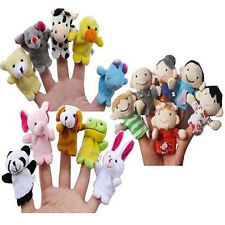 10PCS Soft Plush Animal Finger Puppets Cloth Baby Educational Hand Toy