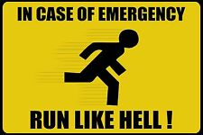 "Funny Warning Emergency Sign Photo Fridge Magnet 2""x3"" Collectibles"