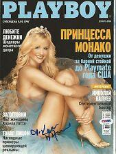 Kara Monaco Signed 2006 Playboy Ukraine Magazine PSA/DNA COA Playmate Autograph