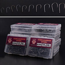 1000 Pcs 10 Sizes Fishing Fish Bait Sharpened Hook Handy Tackle Jig with Box
