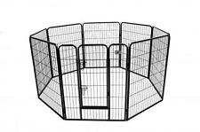 "New BestPet Black 40"" 8 Panel Heavy Duty Pet Playpen Dog Exercise Pen Cat Fence"