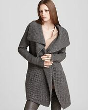 NWT $395 VINCE Grey Honeycomb Wool Yak Cardigan Sweater - L Large