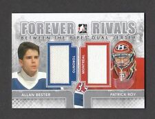 ITG Forever Rivals Allan Bester Patrick Roy Dual SILVER Jersey Card #BTPD-04