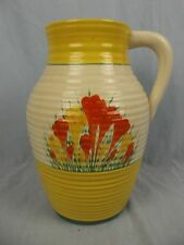 "Large Clarice Cliff Bizarre Lotus Jug ""Sungleam"" Crocus Design c1935"