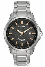 Citizen Men's Eco-Drive Quartz Titanium Casual Watch AW1490-50E