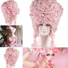 'MARIE ANTOINETTE WIG' Burlesque, Cabaret, Drag, (Pink with Pearls) | HD-1058