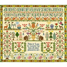 Bothy threads douleurs de l'amour SAMPLER CROSS STITCH KIT par Moira Blackburn
