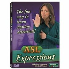 ASL EXPRESSIONS DVD   fun way to learn sign language phrases    Brand New