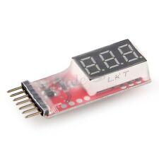 Indicateur Moniteur LED de Tension Voltmètre Batterie Lipo 2S-6S Avion RC