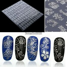108PCS 3D Flower Nail Stickers Manicure Decals Hot Stamping French Nail Art ED