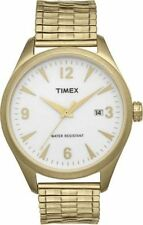 NEW Mens Timex T2N530 Watch Gold Stainless Steel Expansion Band $110 Originals