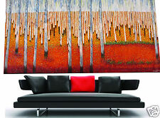 Massive Big  urban Aboriginal art oil painting landscape decor 94in wide By Jane