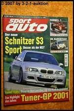 Sport Auto 7/01 Renault Clio Sport V6 BMW Schnitzer S3