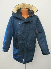 S7860 Golden Fleece 1980s Men's (42) Blue Fur Trimmed Hood Nylon N3B Flying Coat