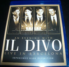 Il Divo an evening With Live in Barcelona (Aust All Region) Blu-ray Like New