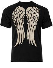 Alas De Ángel En Espalda Daryl Inspirada Chaqueta Biker Camiseta Hombre AC50