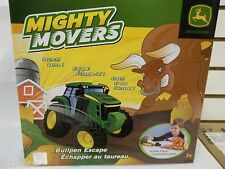 NEW JOHN DEERE MIGHTY MOVERS TRACTOR LAUNCHER BULL PEN ESCAPE PLAYSET NEW IN BOX
