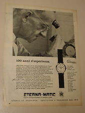 ETERNA MATIC CENTENAIRE OROLOGIO WATCH=ANNI '50=PUBBLICITA=ADVERTISING=479