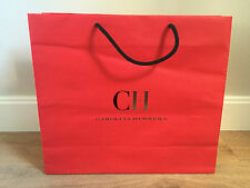 Used - CAROLINA HERRERA - bolsa de papel ROJA - Red Paper bag -