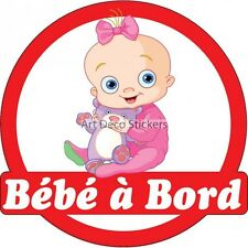Decal Sticker vehicle car Baby à bord baby 16x16cm ref 3576 3576