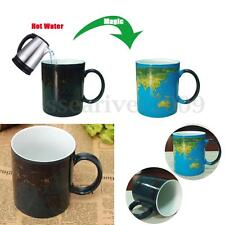 Reactive Heat Change Color Cup Coffee Sensitive Magic Map Hot Cold Ceramic Mug